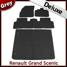Renault Grand Scenic Mk2 2003-2009 Tailored LUXURY 1300g Car & Boot Mats GREY