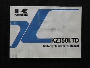 1983 KAWASAKI 750 KZ750 LTD MOTORCYCLE OWNERS OPERATORS MANUAL GOOD SHAPE