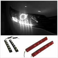2 Pcs 6 LED 12V White Car Driving Fog Lamp DRL Daytime Running Lights For Jaguar