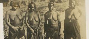 orig. altes Foto mit 4 Frauen aus Afrika um 1920 Akt Erotik