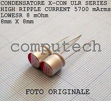 560uF 6,3V 105°C Condensatori a Stato solido polimerici ULR serie LOW ESR 2pz