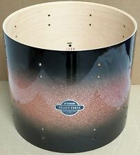 """NEW Sonor Select Force 14"""" Maple Floor Tom Drum, Brown Galaxy Sparkle (12/Bass)"""
