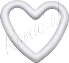 1 ghirlanda a cuore 14 cm in polistirolo da decorare patchwork decoupage corona