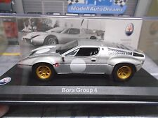 MASERATI Bora Gr.4 Group 4 Racing # silver silber IXO Leo RAR 1:43