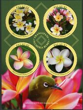 More details for palau 2018 mnh frangipani white-eye 4v m/s birds flowers nature stamps