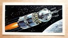 Brooke Bond RACE INTO SPACE card 6. Vostok spacecraft. Yuri Gagarin, Tereshkova.