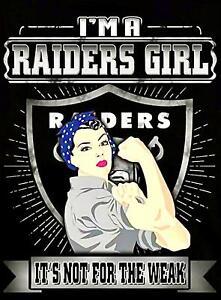 2 Oakland Raiders Girl Waterproof Vinyl Stickers 4.75x4 Las Vegas Car Decals