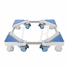 Adjustable Washing Machine Floor Stand Universal for Fridge Movable Trolley Base