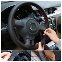 New Universal Genuine Leather DIY Car Steering Wheel Cover Case Needles&Thread