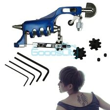 NEW Alloy Professional Rotary Motor Tattoo Machine Gun Liner Shader Blue USA