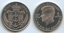 "GS928 - Niue 5 Dollars 1988 KM#17 John F. Kennedy 1963 -""Ich bin ein Berliner!"""