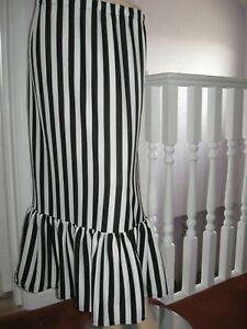 Black striped long skirt Adult white green frilled Party Casual Gothic Steampunk