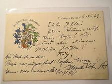 Freiburg - Burschenschaft Alemannia - 1929 - Wappen / Studentika