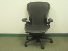Basic Aeron Office Chair Size C Graphite Frame Classic Carbon Mesh #AE-6