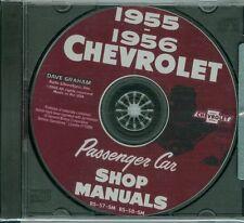 1955-56 CHEVROLET PASSENGER CAR SHOP BODY REPAIR MANUAL ON CD