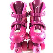 Disney Princess Kids Classic Adjustable Quad Roller Skates Junior Size 10-13