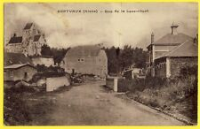 cpa SEPTVAUX (Aisne) Rue de la BASSE COURT Pont Le Ménil Mairie Eglise