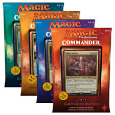 GERMAN Magic MTG 2017 Commander C17 Sealed Deck Complete Box Set The Gathering