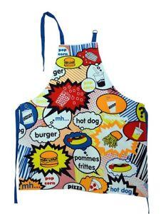 Schürze,Grillschürze,groß,Schurz,Comic,Junkfood,Hamburger,lustig,Baumwolle