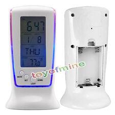 Réveil numérique LCD Calendrier Thermomètre rétroéclairage Night Light  Snooze