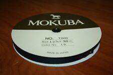 1 BOBINE RUBAN BLEU MARINE SATIN MOKUBA 12 mm X 30 Mètres Qualité made in Japan