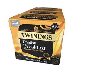 Twinnings English Breakfast Tea Bags - 400 No ( 4 x 100 Boxes)