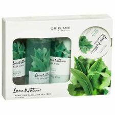 Oriflame Love Nature Tea Tree Facial Kit COMBINATION-OILY SKIN(Set of 4) FREE sh