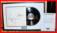 🔥 ROGER WATERS FRAMED SIGNED PINK FLOYD THE WALL LP VINYL ALBUM RECORD PSA JSA