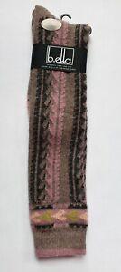 B.ella Cashmere Virgin Wool Blend Knee High Socks Cocoa Rose #2330 MacKenzie USA