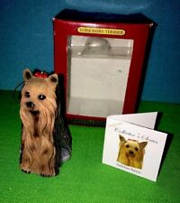 Yourskire Terrier Dog Ornament Collector's Series Aca Christmas Mib Animal