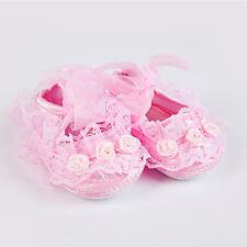 Bebés Niño Recién Nacido Antideslizantes Zapatos De Encaje Flor Botas Zapatillas