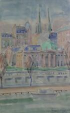 Palais de la Légion d'honneur à Paris France Hôtel de Salm aquarelle signée