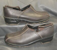 Sanita brown pebbled leather loafers slip ons Men's shoes size EUR 47 / A