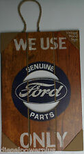 Genuine Ford part only wood Vintage Sign Powerstroke Plate logo tag license car