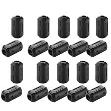 20 Clip-on Ferrite Ring Cable Clips Core RFI EMI Noise Suppressor Filter Beads y