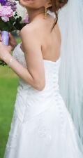 Princess Wedding Dress Corset Sweetheart Bridal Ball Gown, Size 6