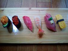 Realistic Food Sample of Sushi, Fridge Magnet, 6 pcs Set
