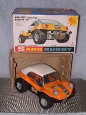 TAIYO VINTAGE, FULLY WORKING, BATTERY PWRD. SAND BUGGY W/ORIGINAL BOX IN ORANGE.