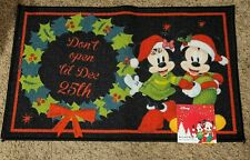 Disney Mickey and Minnie Mouse Holiday Door Mat - NEW! Christmas