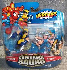 SUPER HERO SQUAD 2009 MARVEL WOLVERINE & SPIRAL SET