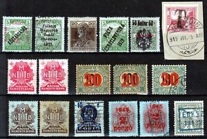 Hungary ☀ interesting lot of old various overprints / postage due ☀ 17v used /MH
