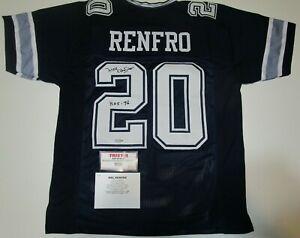 Mel Renfro #20 HOF Dallas Cowboys Autographed Signed Football Jersey TriStar COA