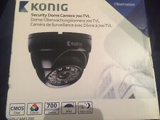 "Konig Sas-cam1200 Dome Camera Colour Cctv Security 700 Tvl 1/4"" Cmos New Boxed"