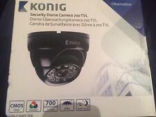 """Konig Sas-cam1200 Dome Camera Colour Cctv Security 700 Tvl 1/4"""" Cmos New Boxed"""
