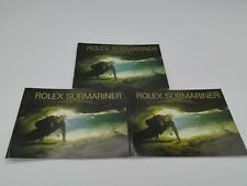 3 Rolex Submariner booklet 14060 16610 16600 16613