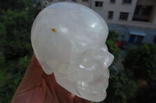 976g Natural Quartz Crystal Exquisite Skull Carving China B72