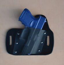 leather/kydex hybrid OWB beltslide holster Glock 26, 27, 33