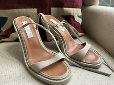 Stella McCartney Wood Heels Stappy High Sandals Size 39