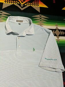 Peter Millar Men's LARGE (L) Golf Polo Whispering Pines Golf Club MEMBERS ONLY