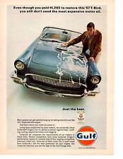 1957 FORD THUNDERBIRD ~ ORIGINAL GULF OIL AD